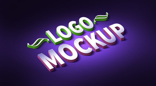 3D Logo & Text Effect Mockup (PSD) - GraphicsFuel