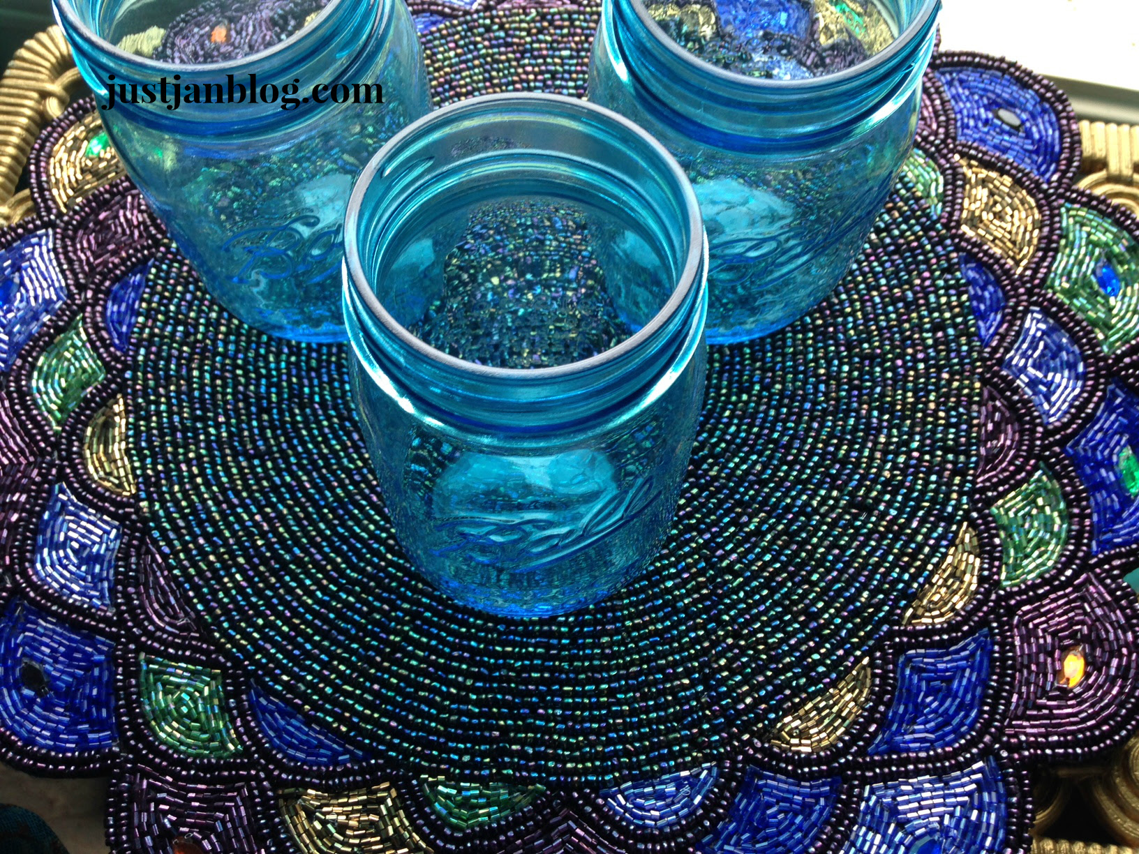 jars on beaded placement