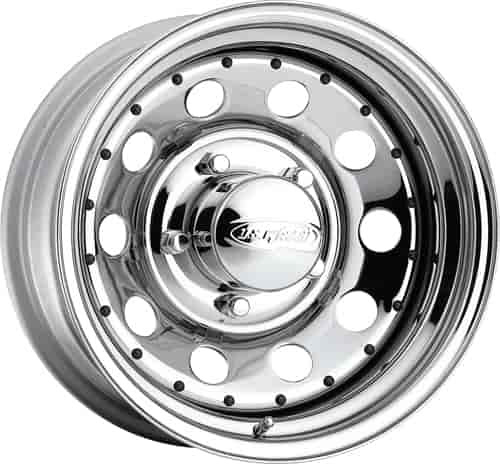 U.S. Wheel CHROME MODULAR 15 x 10 5 x 55 Bolt Circle 375 Back Spacing 44 offset 428 Center Bore 1500 lbs Load Rating