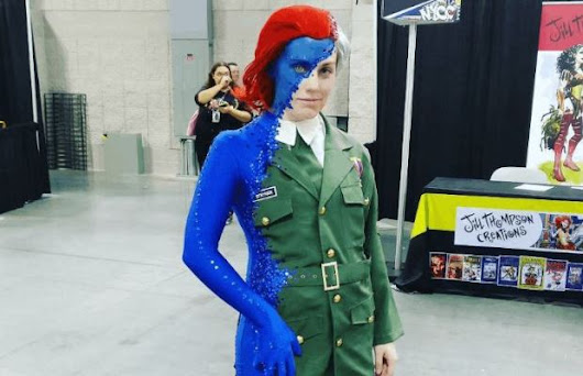 Incredible Cosplay of Mystique Transforming Into Stryker - Unshootables