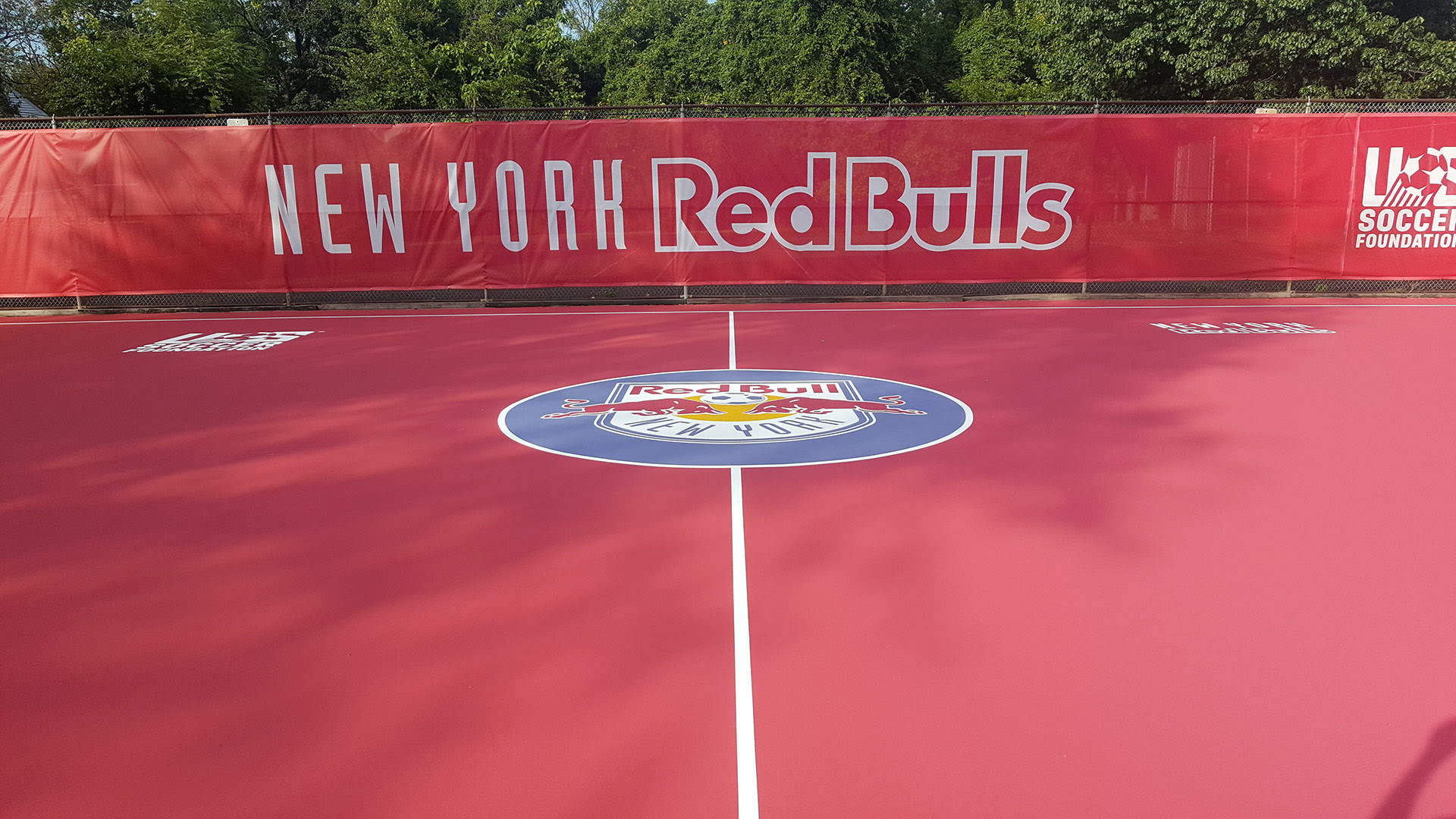 New York Redbulls Us Soccer Futsal Court In Newark Nj Stencil