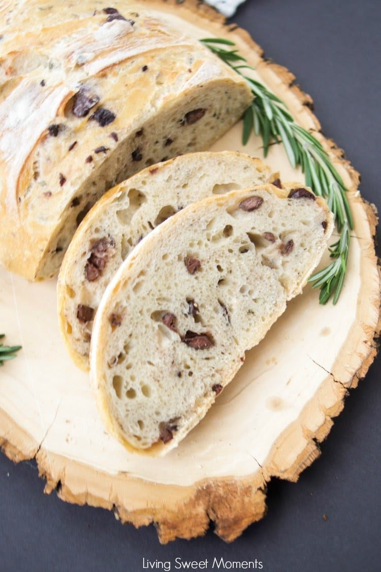 Crusty Rosemary Olive Bread Recipe - Living Sweet Moments