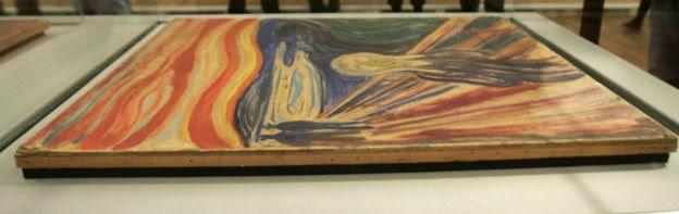 El Grito y Madona, de Edvard Munch, son mostrados a la prensa tras su recuperación en 2006.