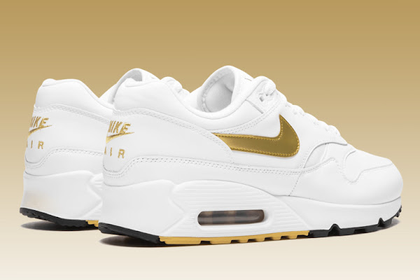 buy online 41792 2bccb Nike s Air Max 90 1 In Metallic Gold Is Available Now