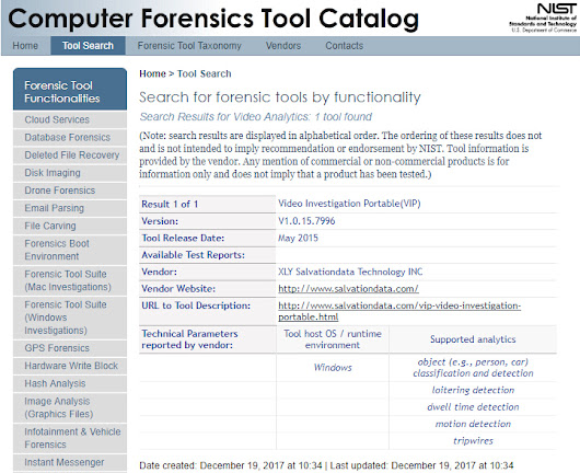 Two more tools from SalvationDATA have been listed in CFTT (Computer Forensic Tool Testing) catalog