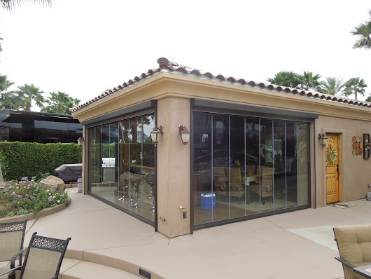 Frameless Folding Doors Palm Springs: Motorcoach Country Club and TGroup Folding Doors