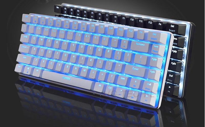 Ajazz Geek Ak33 Led Backlit Usb Wired Illuminated Gaming Mechanical Keyboard Gamer Ergonomic Multimedia Blue Black Switch New Keyboards Aliexpress