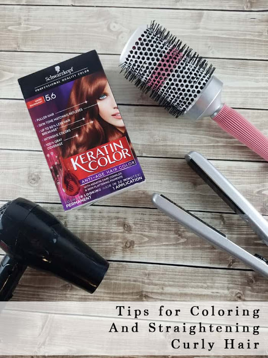 Tips for Coloring and Straightening Curly Hair- Third Stop on the Right