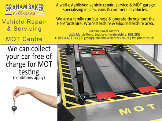 MOT Free Car Collection Service in Ledbury, Herefordshire