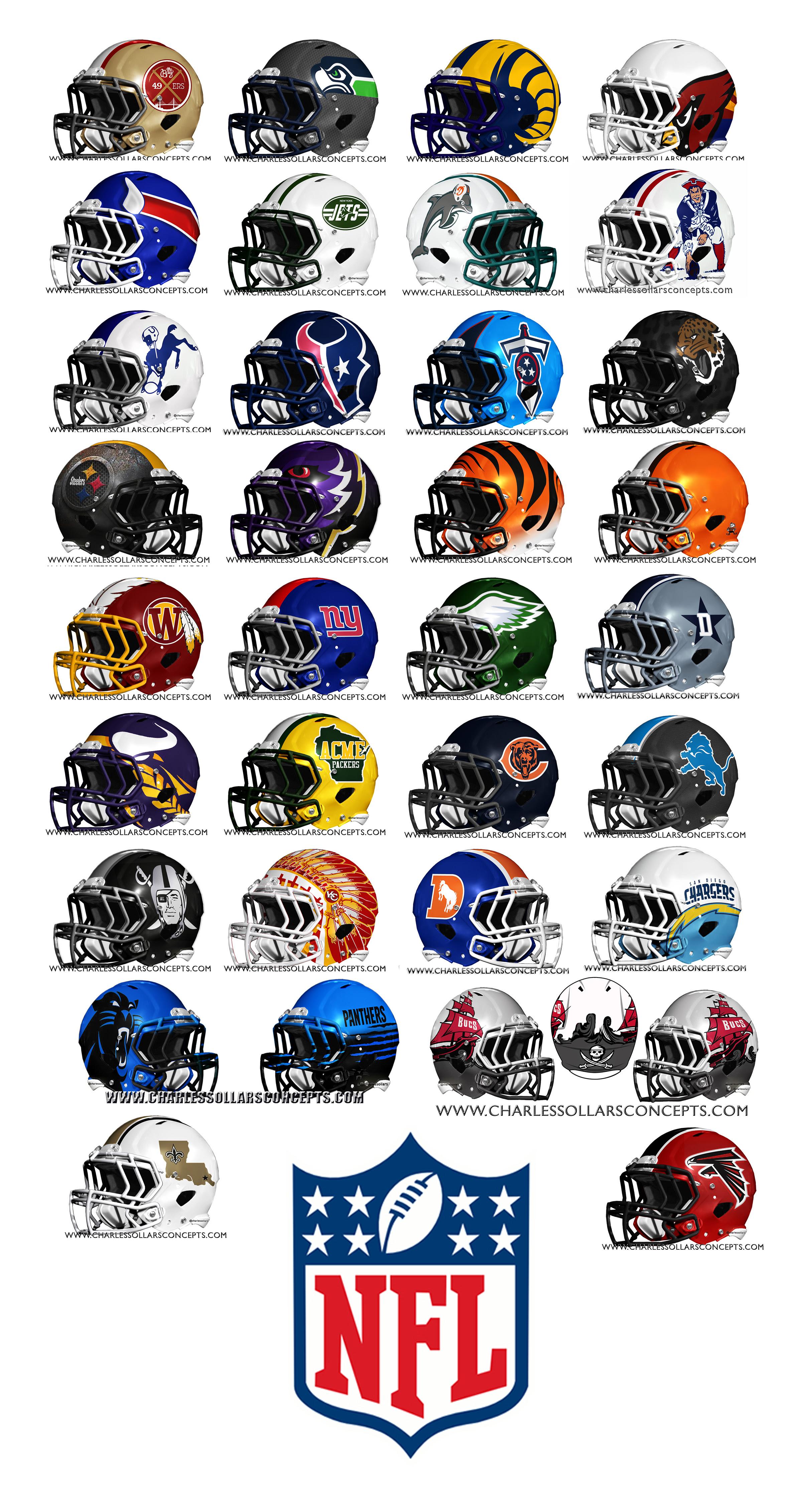 NFL Helmet Redesign All 32 Teams - Concepts - Chris Creamer's Sports Logos Community - CCSLC ...