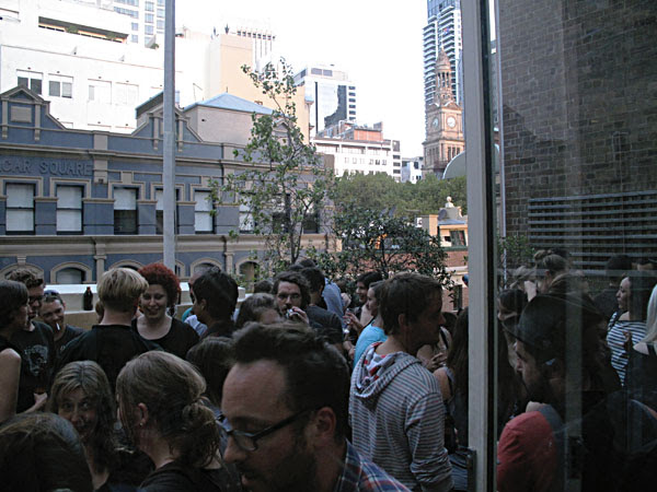 Gaffa Gallery Roof Top Crowd, MCA Show