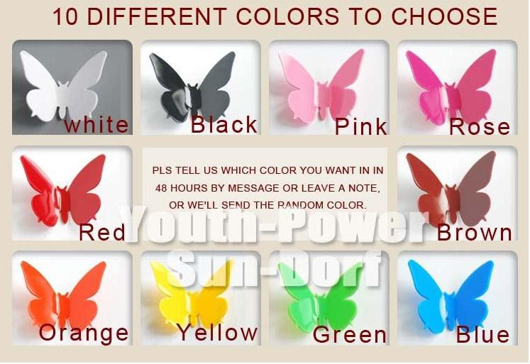 Wholesale 3D Wall Sticker Butterfly Home Decor Decorations Pop up ...