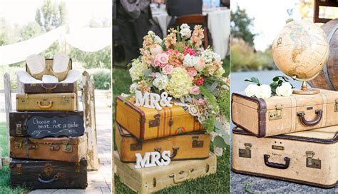 Top 20 Vintage Suitcase Wedding Decor Ideas   Roses & Rings