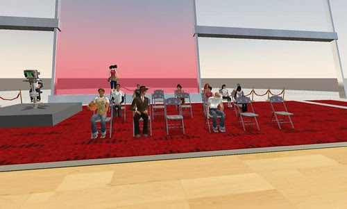 Waiting for the launch of NBA Headquarters in Second Life