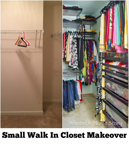 Small Walk In Closet Makeover - Whats Ur Home Story