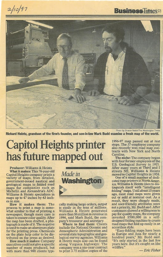 Capitol Heights Printer Has Future Mapped Out
