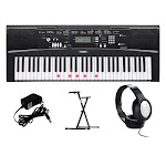 Yamaha EZ220 61 Full-size Lighted Touch Keyboard Bundle
