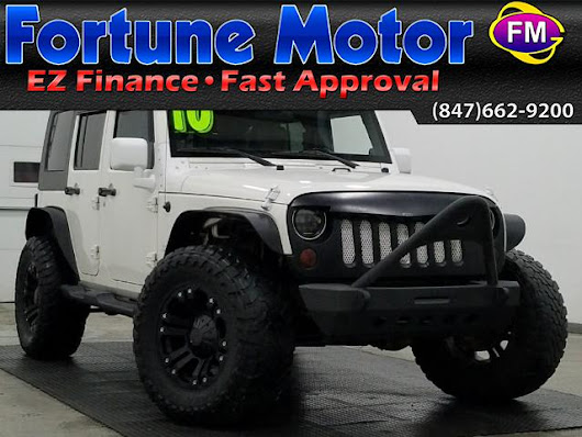 Used 2010 Jeep Wrangler Unlimited Sahara 4WD for Sale in Waukegan IL 60085 Fortune Motor Group Inc.