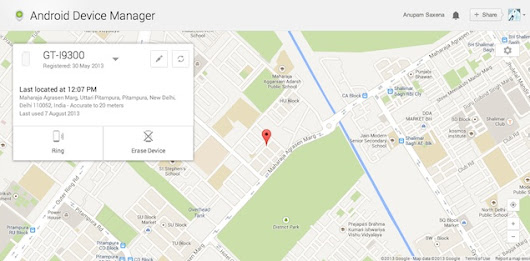 Android Device Manager now live, helps you track a lost device | NDTV Gadgets