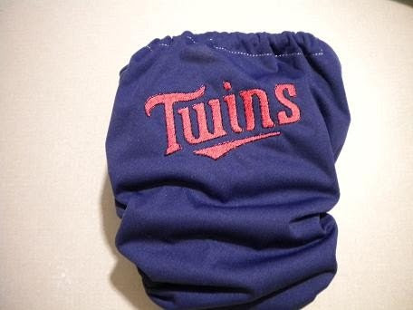 Minnesota Twins embroidered cloth pocket diaper