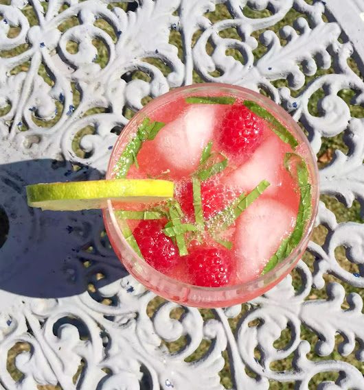 Raspberry Mint Lime Cooler - Non-Alcoholic - Emma Eats & Explores