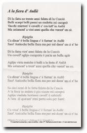 Christian et Jean Jacques Andreani ont composé et enregistré vers 1986 une chanson sur la foire de la Saint Antioche d'Aullène
