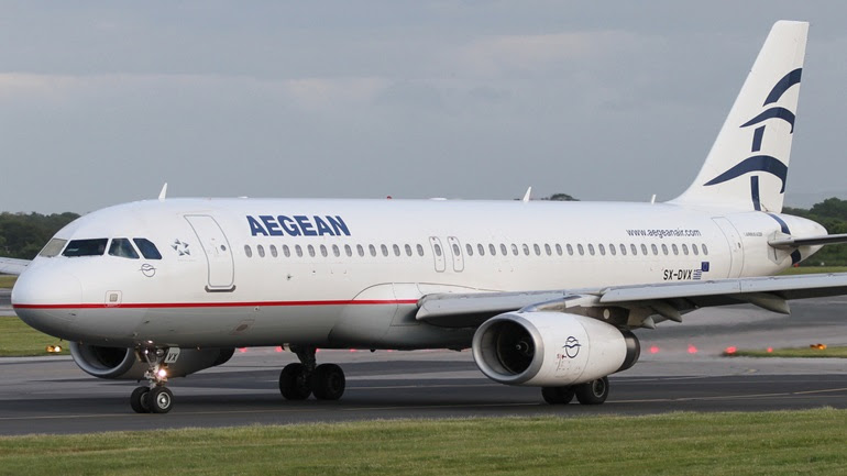 Αποτέλεσμα εικόνας για το αεροσκάφος της Aegean