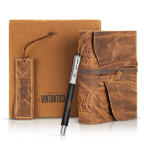 Review for Vintantico Genuine Leather Journal with Writing Pen (Brown)... - JJ Caraway - Blog Booster