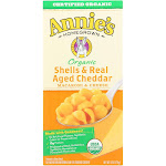 Annie's Homegrown Organic Macaroni & Cheese, Shells & Real Aged Cheddar - 6 Ounce -PACK 12