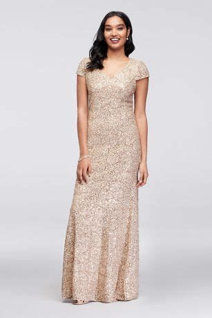 Appliqued Lace Short Sleeve Mermaid Gown   David's Bridal
