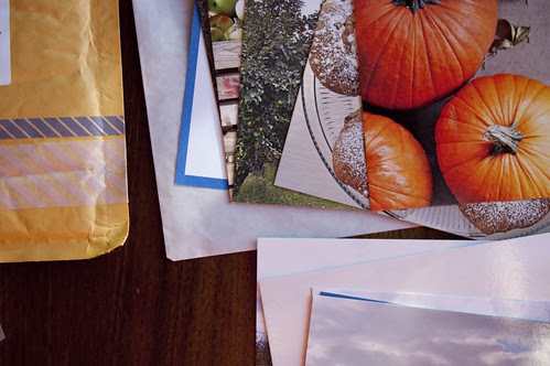 postcards, wrapping