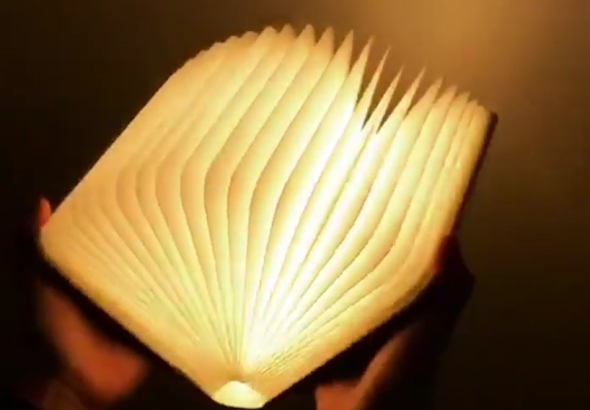 Lamp that looks like a book - GIFCOP