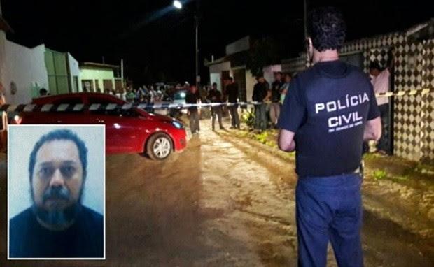 Crime aconteceu na Rua Maria Lopes Correia, no Loteamento Santa Inês (Foto: Sérgio Costa)