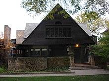 Wright's home in Oak Park, Illinois