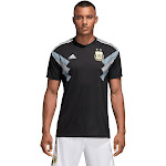 adidas Men's AFA Argentina Away Jersey | Size Adult Medium | Black/Clear Blue/White
