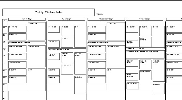 Schedule Planners