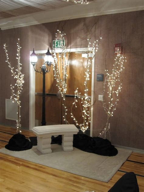 lighted branches for entry ..?   8th Grade Formal