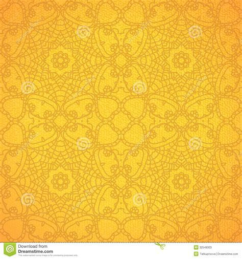 Lace Pattern Background With Indian Ornament Stock Vector