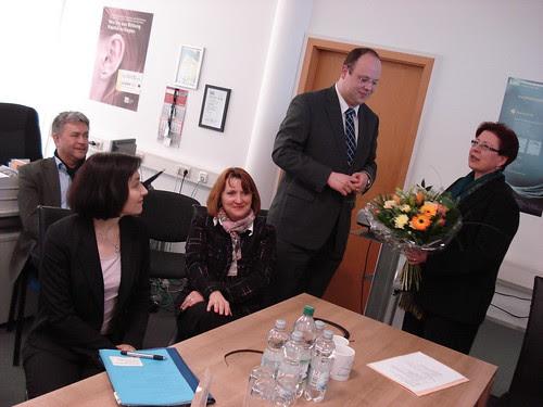 Besuch von Staatssekretärin Reiche