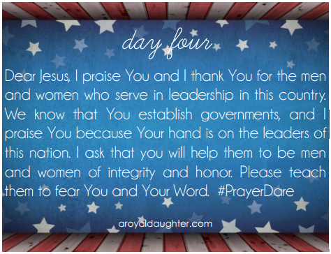 Prayer Dare July Day 4