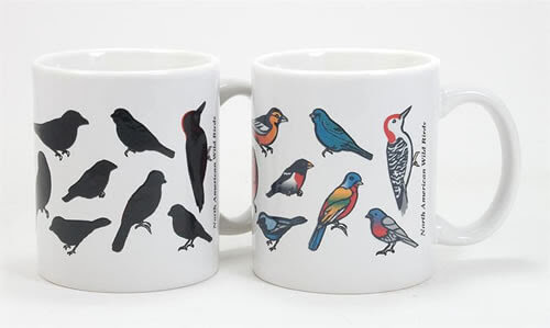 Wild Birds Color Changing Mug - Wondermugs