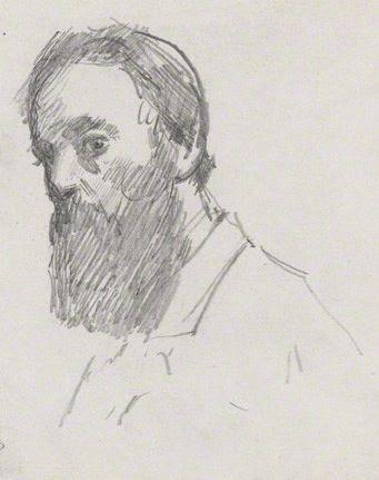 Albert Moore, por Sydney Prior Hall, en la National Portrait Gallery