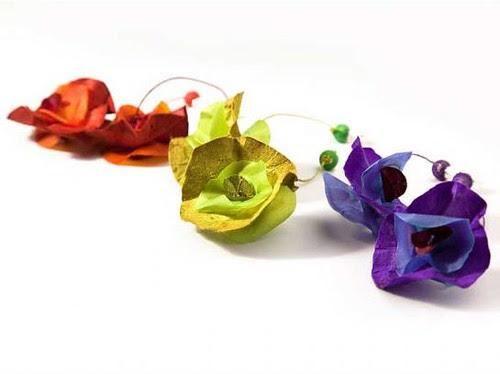 Paper fresia earrings
