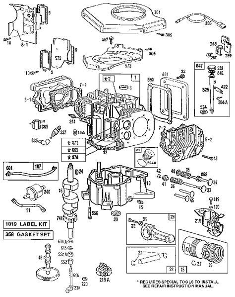 BRIGGS & STRATTON ENGINE Parts | Model 422707124301