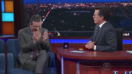 "John Oliver & Stephen Colbert on Russia, Evolution of ""Stupid Watergate"": ""We're Turbo-F***ed"""