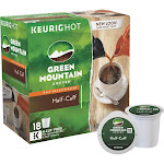 Keurig Green Mountain Half-Caff Mediun Roast Coffee K-Cups - 18 count, 5.9 oz box