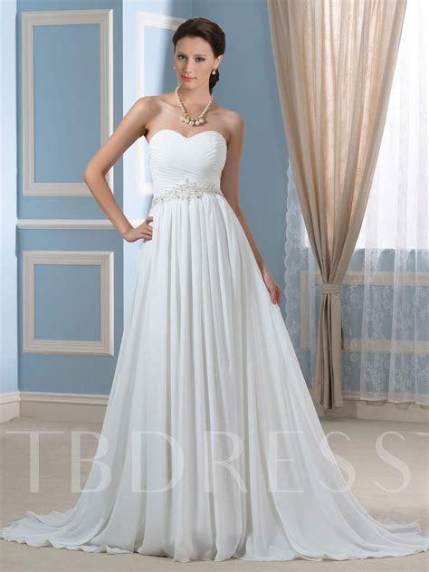 Beaded Pleated Chiffon Maternity Wedding Dress   Tbdress.com