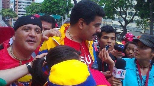 Andrés Bódalo,junto al presidente venezolano Nicolás Maduro