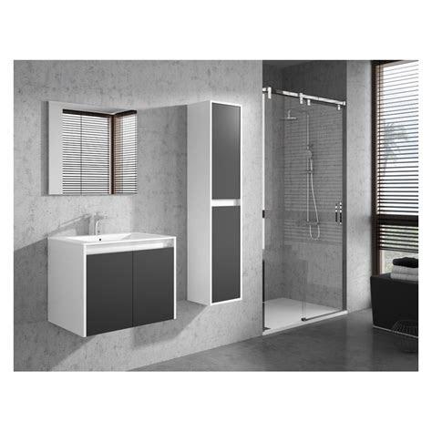 banio design felino meuble salle de bain  cm blanc