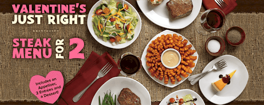 Outback Steakhouse Steak Menu for Two for Valentine's Day #OutbackBestMates